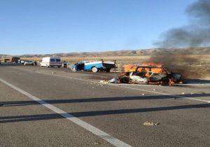 ادامه حوادث رانندگی مرگبار در جادۀ خاوران-سروستان -خرامه
